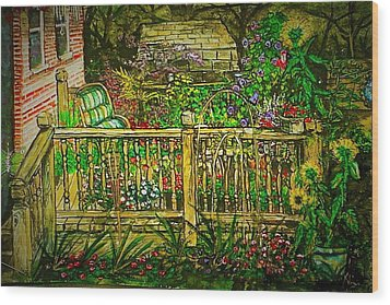Peggy's Paradise Wood Print
