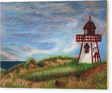 Pei Lighthouse Wood Print