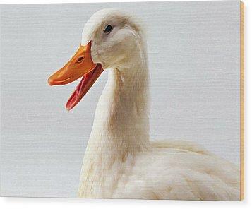 Pekin Ducks 1 Wood Print by Lanjee Chee