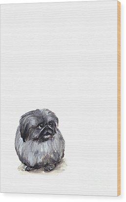 Pekingese - Pekinese Wood Print by Barbara Marcus
