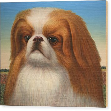 Pekingese Wood Print by James W Johnson