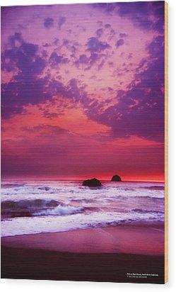 Pelican State Beach California 02 Wood Print by Rafael Escalios