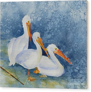 Pelicans At The Weir Wood Print