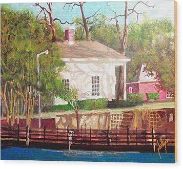 Pelleteir House 1850 Wood Print