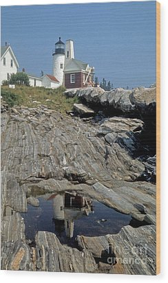Wood Print featuring the photograph Pemaquid Point Light by ELDavis Photography