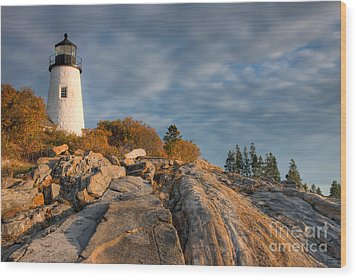 Pemaquid Point Light Vi Wood Print by Clarence Holmes