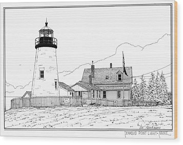 Pemaquid Point Lighthouse Wood Print by Ira Shander