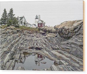 Wood Print featuring the photograph Pemaquid Point Lighthouse by Richard Bean