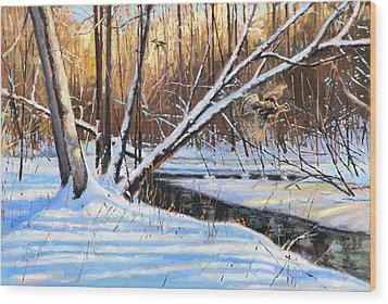 Peme Bon Won River Fly By Wood Print by Larry Seiler