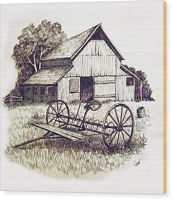 Pen And Ink 8 Wood Print by Carol Hart