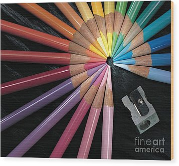 Pencils Wood Print by Gary Gingrich Galleries