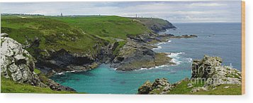 Pendeen Watch To Levant Wood Print by Terri Waters