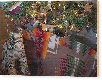 Pendleton Christmas Wood Print