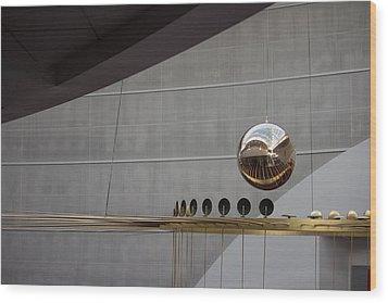 Wood Print featuring the photograph Pendulum Sculpture by Patricia Babbitt