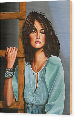 Penelope Cruz Wood Print by Paul Meijering