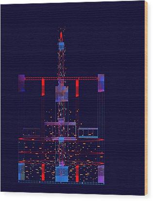 Penman Original - Untitled 97 Wood Print by Andrew Penman