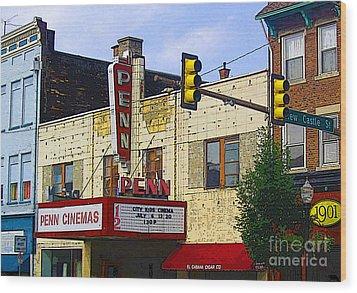 Penn Cinemas In Ohiopyle Wood Print by Nina Silver