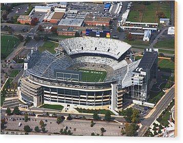 Penn State Beaver Stadium Aerial Wood Print by Mattucci Photography