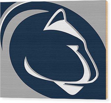 Penn State Nittany Lions Wood Print by Tony Rubino