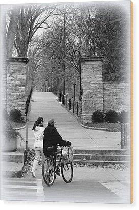 Penn State University Transportation Wood Print by Mary Beth Landis