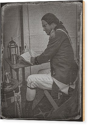 Penning A Letter To King George The Third   Wood Print by Priscilla Burgers