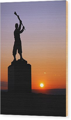Wood Print featuring the photograph Pennsylvania 72nd Memorial by James Kirkikis