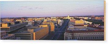 Pennsylvania Ave Washington Dc Wood Print by Panoramic Images