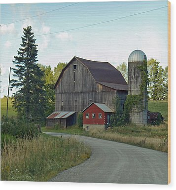 Pennsylvania Barn Wood Print by Christine Lathrop