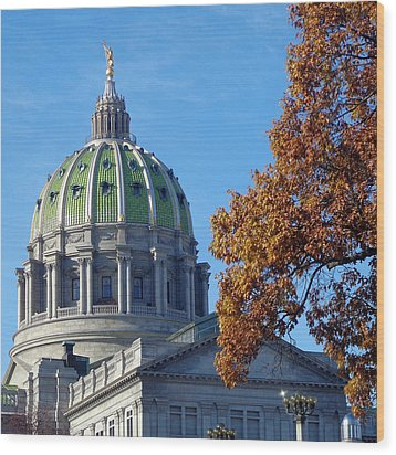 Pennsylvania Capitol Building Wood Print by Joseph Skompski