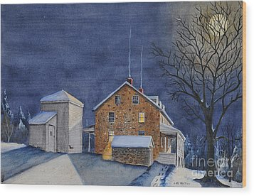 Pennsylvania Moon Wood Print