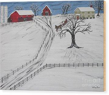 Pennsylvania Sleigh Ride Wood Print by Jeffrey Koss