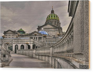 Pennsylvania State Capital Wood Print by Lois Bryan