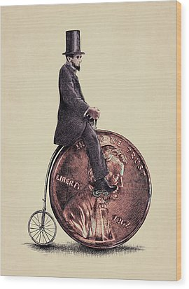 Penny Farthing Wood Print by Eric Fan