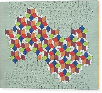 Penrose's Conundrum Wood Print by Peter Hugo McClure