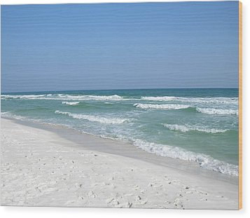 Wood Print featuring the photograph Pensacola Beach by Alan Lakin