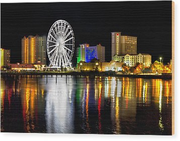 Pensacola Beach Skyline Wood Print by Tim Stanley