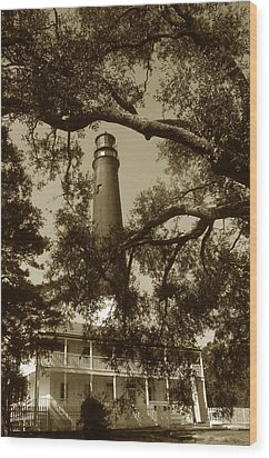 Pensacola Lighthouse Wood Print by Skip Willits