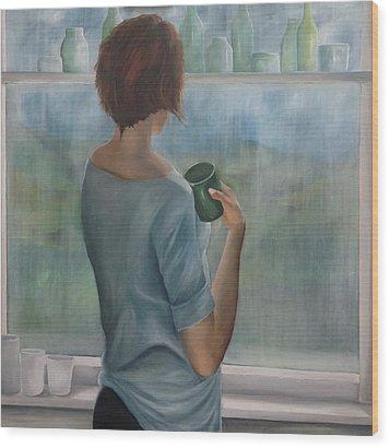 Pensive Wood Print by Neil Kinsey Fagan