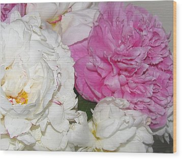 Wood Print featuring the photograph Peonies 11 by Margaret Newcomb