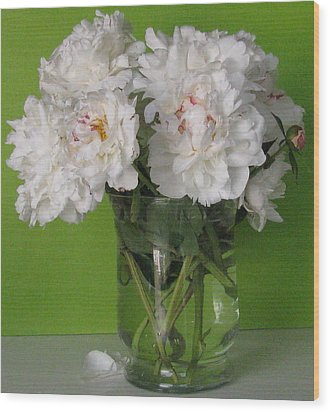 Wood Print featuring the photograph Peonies 2 by Margaret Newcomb