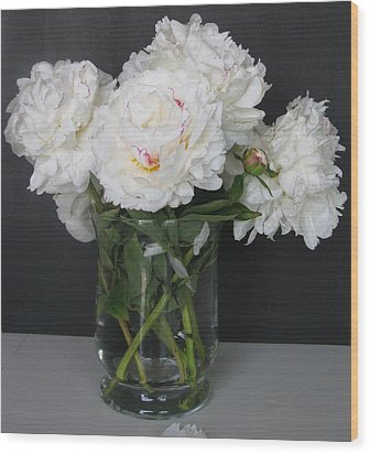 Wood Print featuring the photograph Peonies Bouquet 6 by Margaret Newcomb