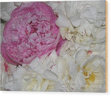 Wood Print featuring the photograph Peony Bouquet 14 by Margaret Newcomb