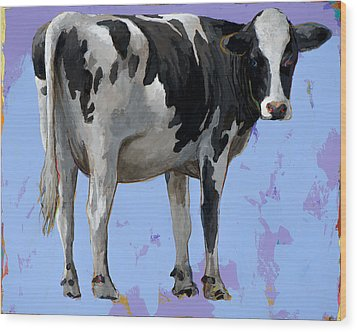 People Like Cows #11 Wood Print by David Palmer