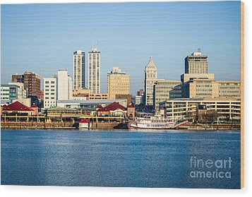 Peoria Skyline And Downtown City Buildings Wood Print by Paul Velgos