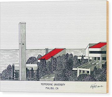 Pepperdine University Wood Print by Frederic Kohli
