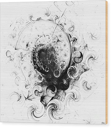 Wood Print featuring the digital art Peppermint Dream 1 by Arlene Sundby