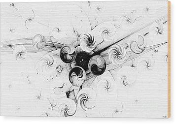 Wood Print featuring the digital art Peppermint Dream 2 by Arlene Sundby