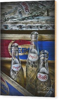 Pepsi Bottles And Crates Wood Print