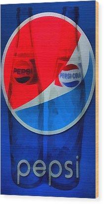 Pepsi Cola Wood Print by Dan Sproul