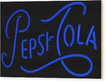 Pepsi Cola Neon Wood Print